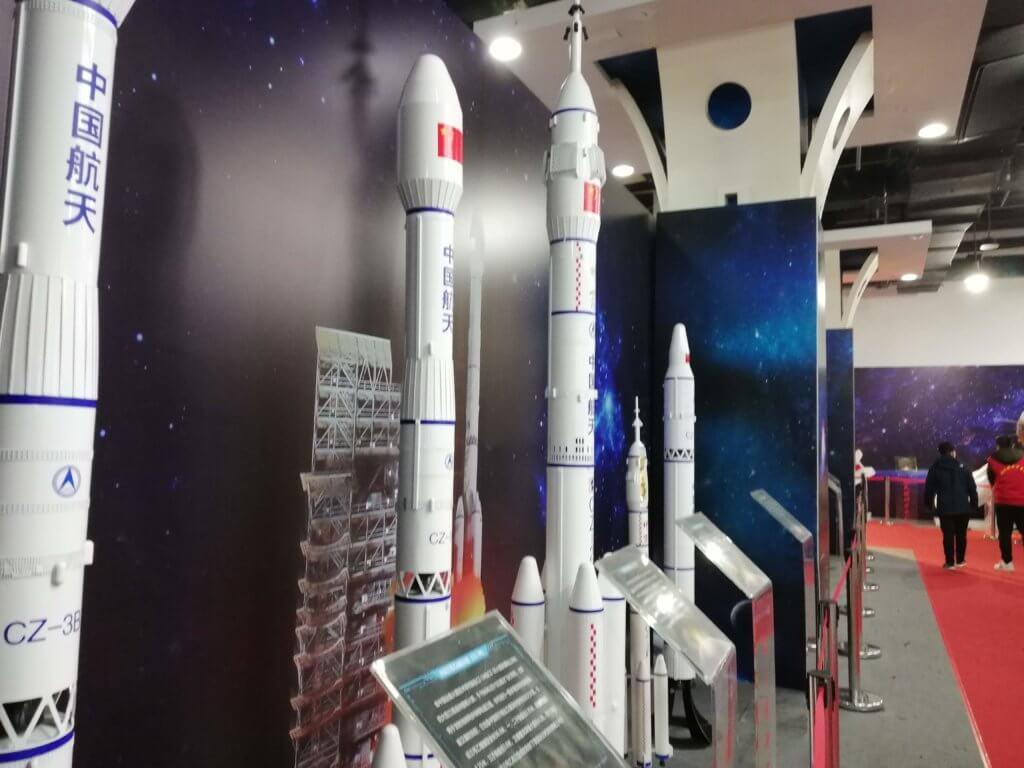 展示されている中国のロケット
