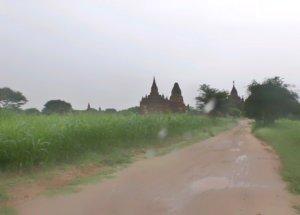 雨と畑とバガン遺跡