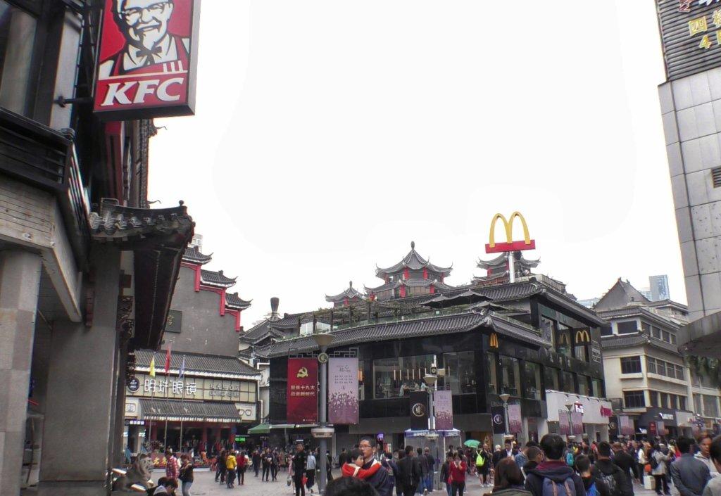 深圳のマクドナルドとケンタッキー