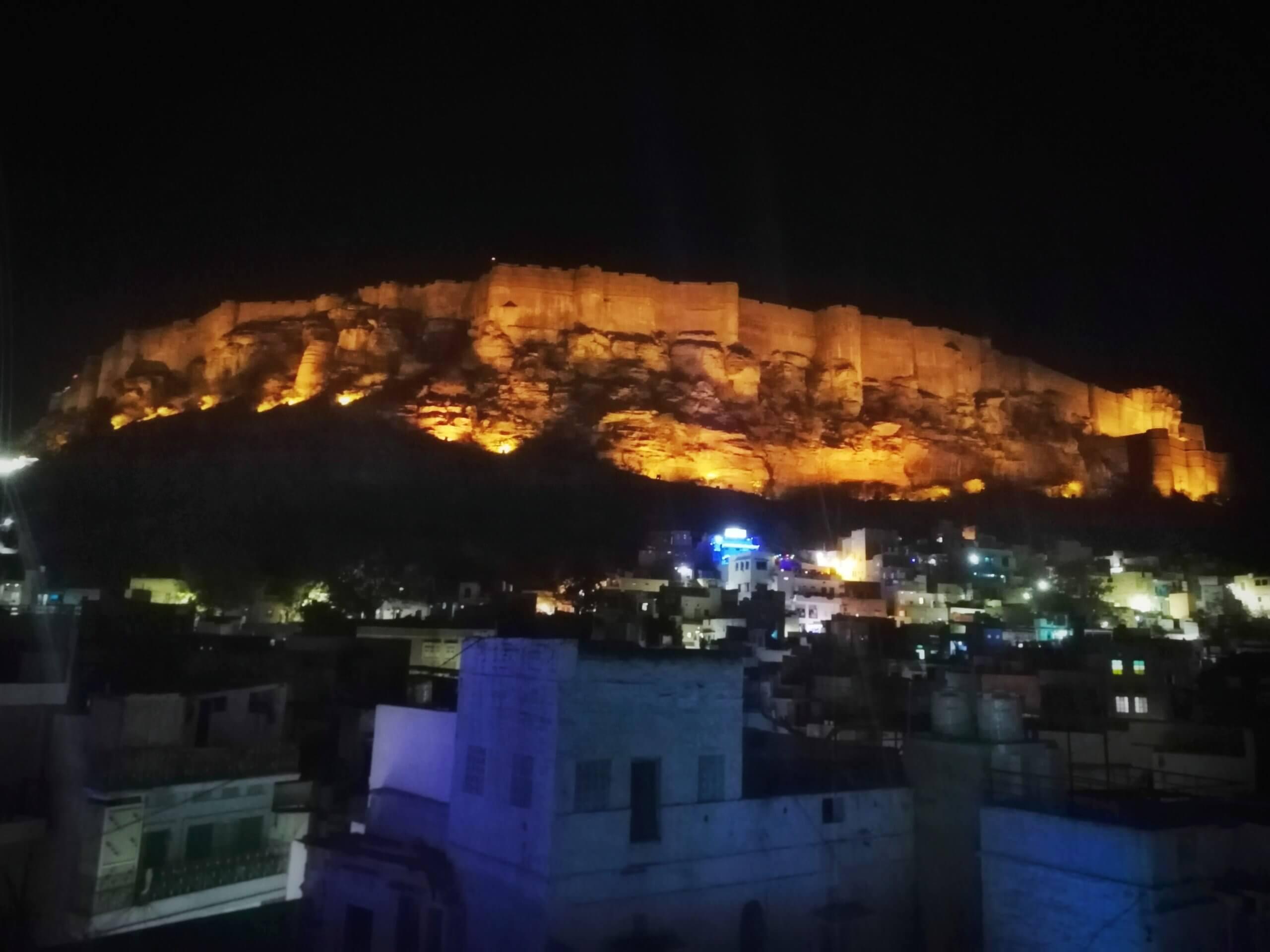 メヘランガール宮殿の夜景