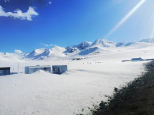 雪山姿の崑崙山脈