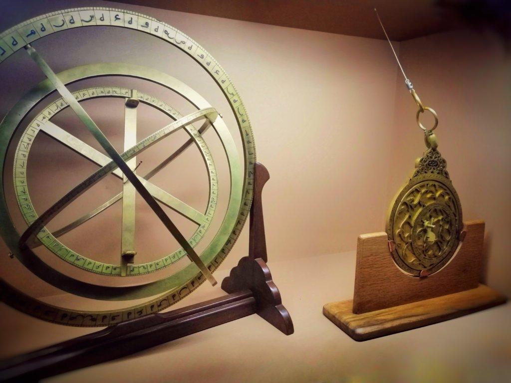 展示された天体観測の道具