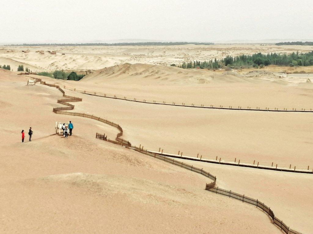 敦煌:陽関からの眺め:西域