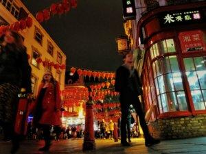 ローアングルから撮ったロンドンの中華街