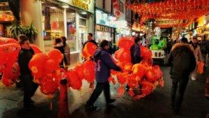 旧正月前のロンドン中華街