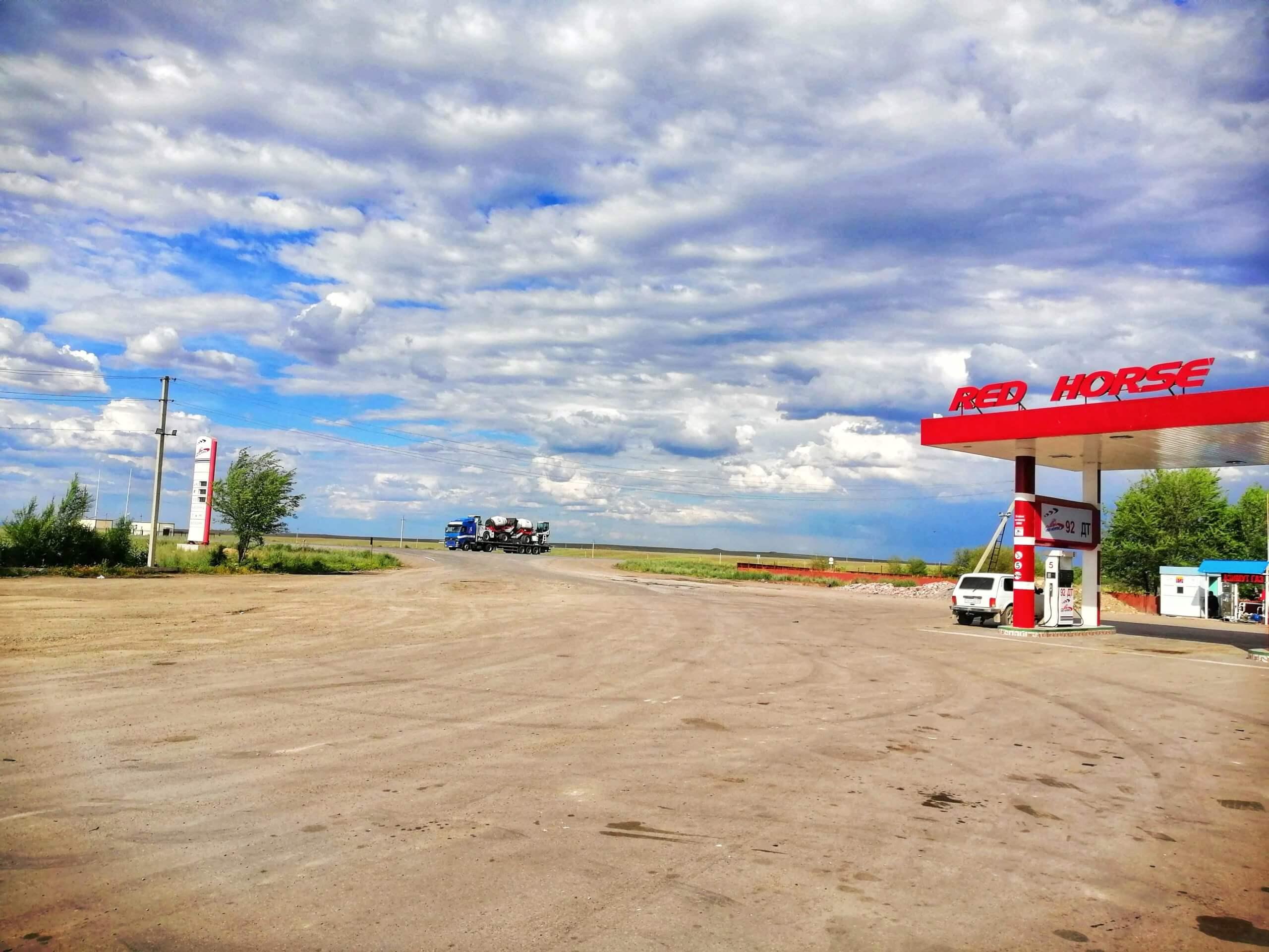 キルギスのガソリンスタンド