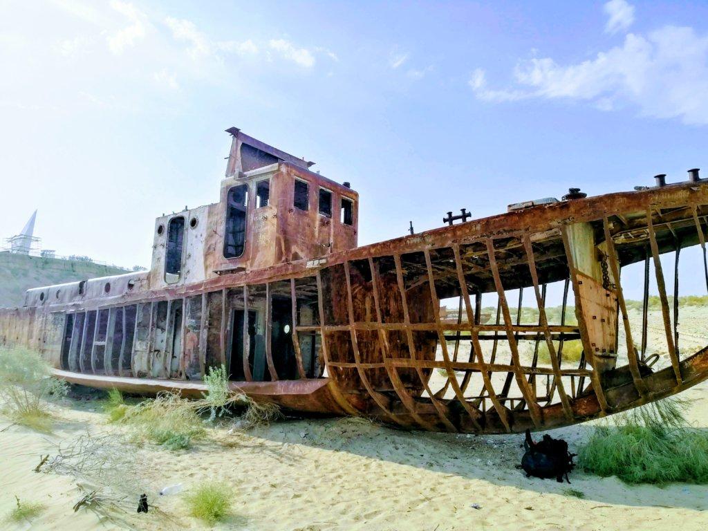 モイナクの船の残骸