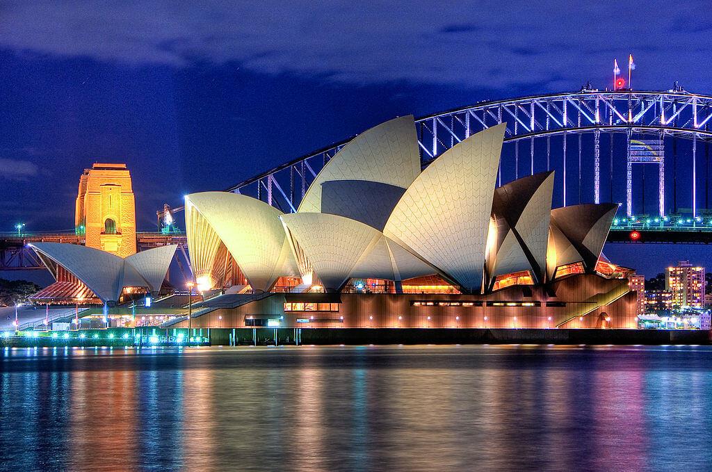画像:オーストラリアのオペラハウス