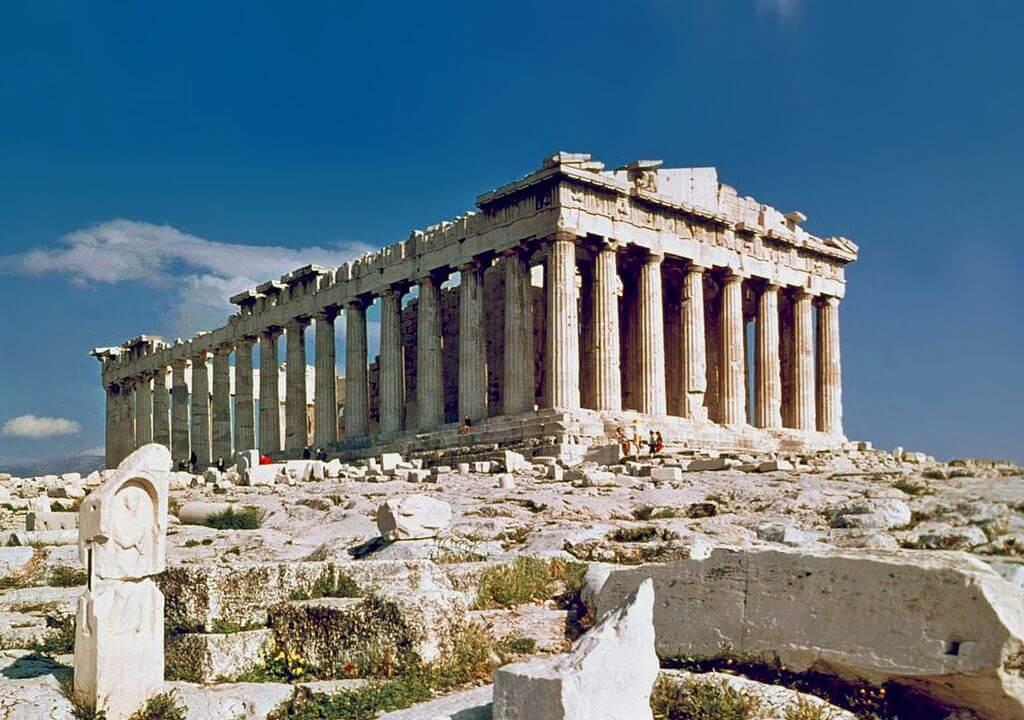 画像:ギリシャのパルテノン神殿(ドーリア式)