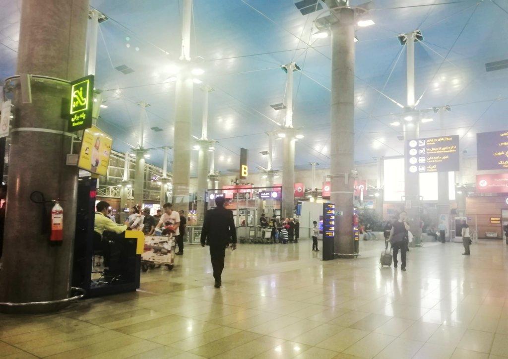 テヘラン:空港の様子