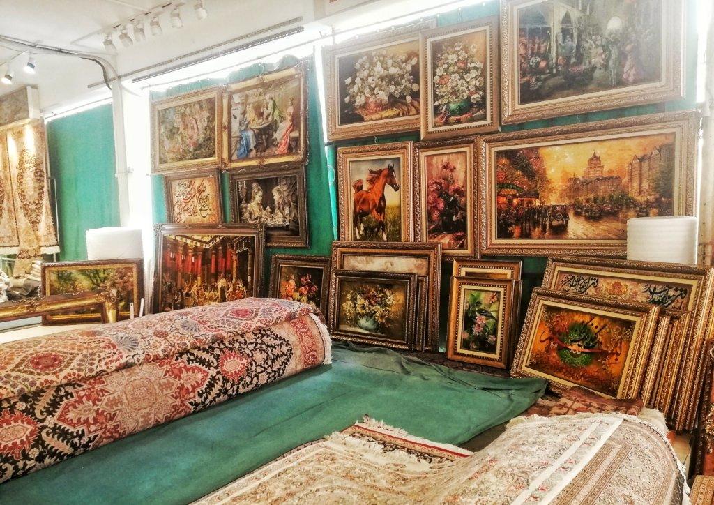 テヘラン:絨毯絵画