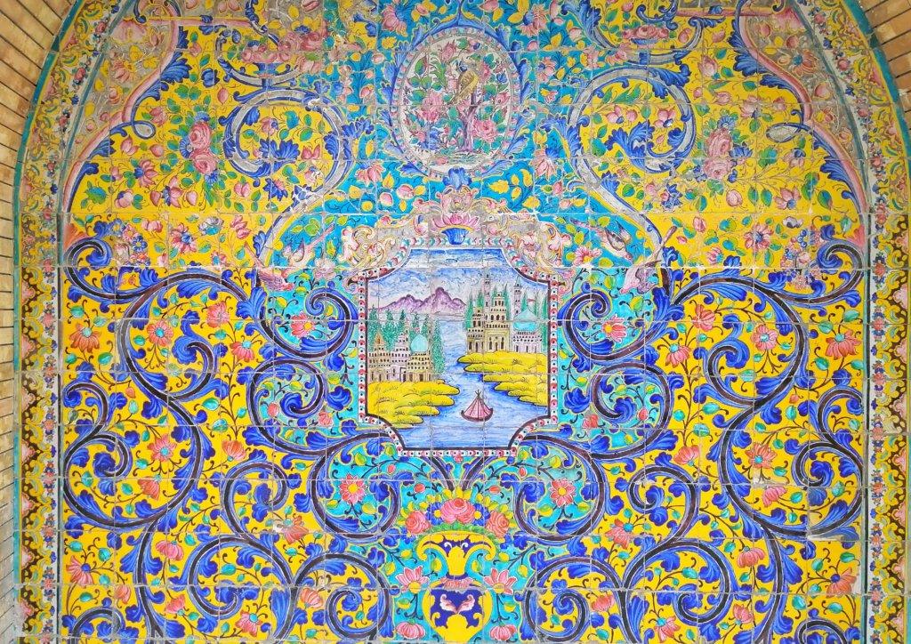 テヘラン:ゴレスターン宮殿の壁画