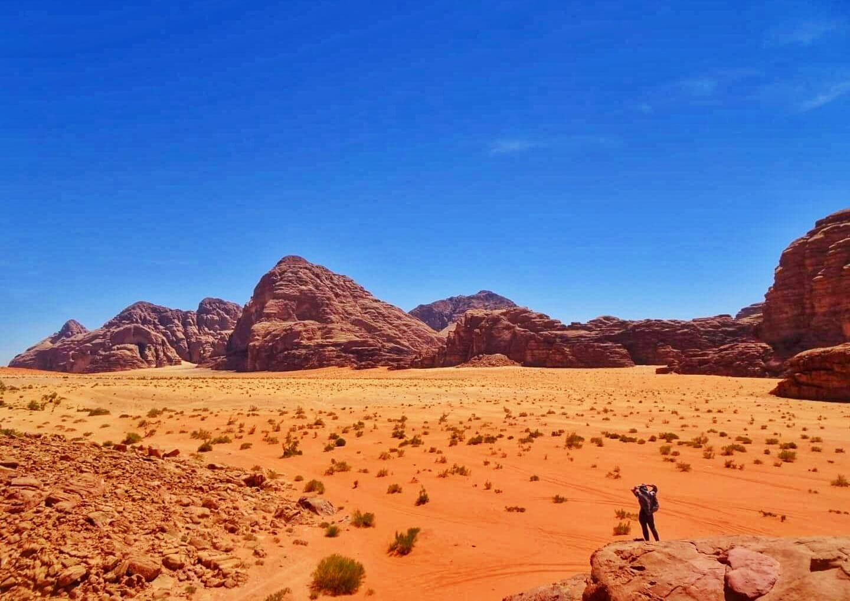 ワディラム:砂漠を眺める男